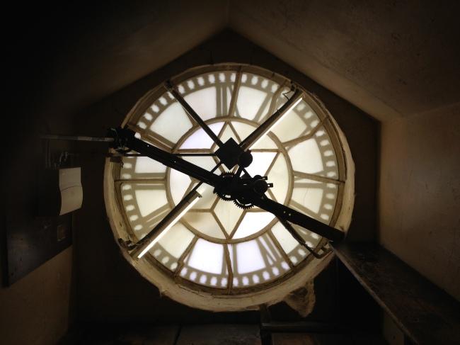 Bath Abbey Clock works