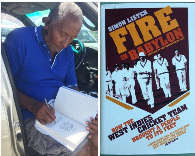 Andy Roberts Signs Fire in Babylon